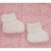 Plymouth Yarn F310 Angora Baby Booties (Free)