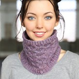 Plymouth Yarn F725 Cabled Cowl (Free)
