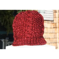 Bulky Seed and Cable Hat