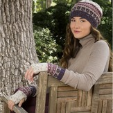Premier Yarns Slip Stitch Hat & Mitts (Free)