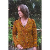 Knitting Pure & Simple 298 Top Down Shawl Collar Cardigan