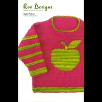 Child's Worsted Pullover with Apple Motif