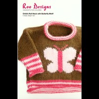 Child's Roll-Neck with Butterfly Motif
