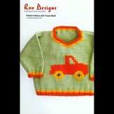 Roo Designs Child's V-Neck with Truck Motif