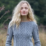 Rowan Cabled Three Quarter Sleeve Sweater (Free)