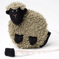 Sheep Tape Measure Beige