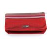 della Q 1112-1 Lily Small Stripe Zip Pouch - Red