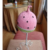 Spud & Chloë by Blue Sky Fibers Watermelon Hat (Free)
