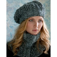 Sandra Cabled Cowl and Beret (Free)