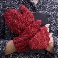 Tweedy Alpaca Scarlet Letter Pop-Up Mittens (Free)
