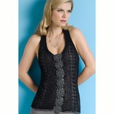 Stacy Charles Fine Yarns Kourtney Net Halter with Crochet Floral Medallions PDF