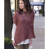 Stacy Charles Fine Yarns Gracie Square Fringed Poncho PDF