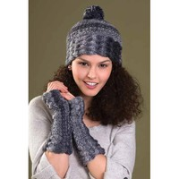 Bliss Hat & Fingerless Gloves PDF