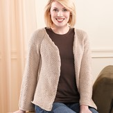 Valley Yarns 201 Sand Pebbles Top-Down Cardigan