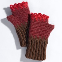 207 Rose Hips Crocheted Gauntlets