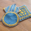 Valley Yarns 366 Crocheted Pot Holders and Trivet - 366