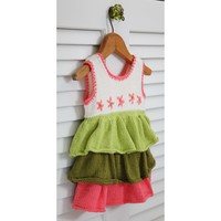 407 Flower Garden Ruffled Dress