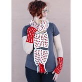 Valley Yarns 592 Nordic Tiles Scarf & Fingerless Mitts
