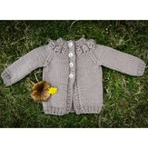 Valley Yarns 602 Cremini Baby Cardigan