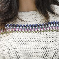 618 Banded Yoke Pullover
