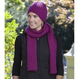 Valley Yarns WEBS DIR10 Superwash Scarf and Hat by Doris Chan