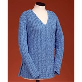 Vermont Fiber Designs 126 Sailor's Rib V-neck Pullover
