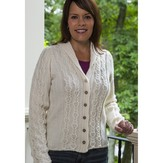 Vermont Fiber Designs 188 Cabled Panel Cardigan PDF
