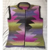 Color Points Intarsia Vest