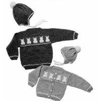 11 Child's Bunny Sweater Pullover or Cardigan